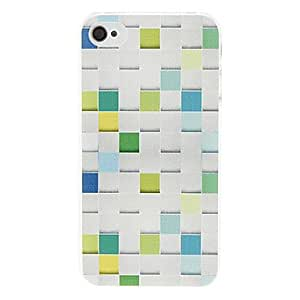 Colorful Grid Pattern Hard Case for iPhone 4/4S