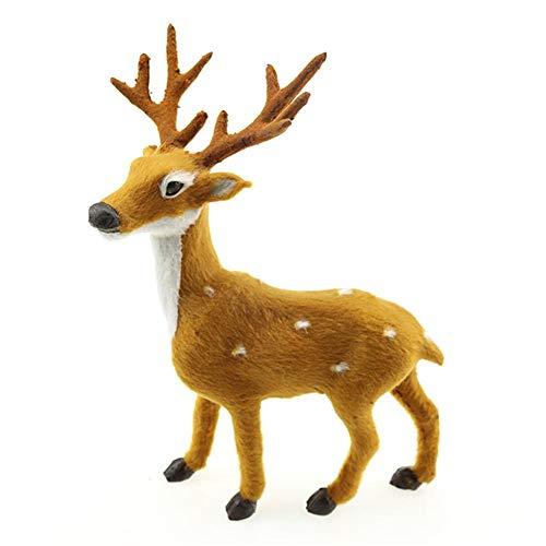Christmas Plush Reindeer Elk Toy Decoration Animals Novel Reindeer Elk Christmas Scene Decoration Family Decoration 4 Sizes by iShine ()