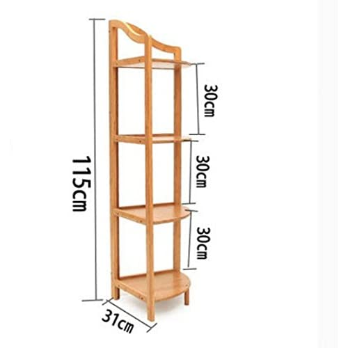 Delicate Bamboo Triangle In The Corner/bathroom Rack/flower/frame/shelf /
