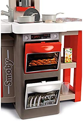 Smoby- Cocina Juguete Plegable, Color Rojo, Gris, única (312200)