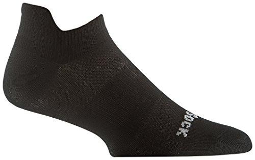 WrightSock Mens Coolmesh II Tab, Black, Sock Size:10-13/Shoe Size: 6-12