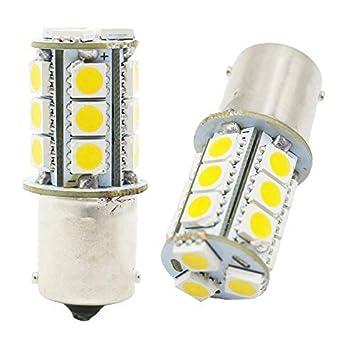AMAZENAR 5050 18 SMD Car Replacement for Brake Parking Turn Signal Light Lamps Tail Backup Bulbs 12-Pack 1157 BAY15D 1016 1034 7528 2057 White LED Light 12V-DC