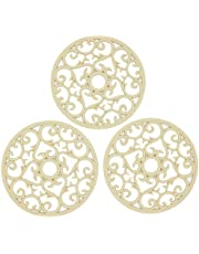 Smithcraft Set of 3 Silicone Intricately Carved Trivet Mats Flexible Durable Non Slip Multi-Use Hot Pad Counter Mat