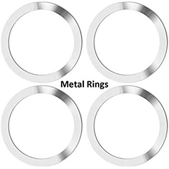 Metal Ring for Neotrix Wireless Qi Standard Mobile Cell Phone Air Vent Magnet Car Mount Holder Cradle and Charger(4 Pieces)