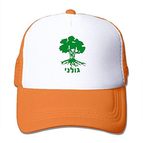 GordonChild Men Unisex Golani Brigade IDF Israeli Defence Force Classic Easy Adjustable sunbonnet Orange