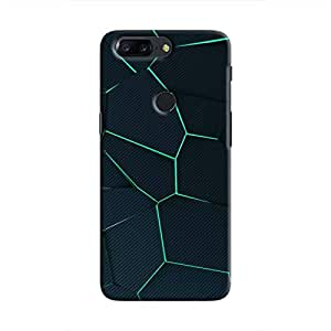 Cover It Up - Cyan Fractures OnePlus 5T Hard case