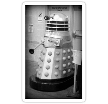 (Old Fashioned Dalek - Sticker Graphic Bumper Window Sicker Decal - Doctor Who Dr Who)