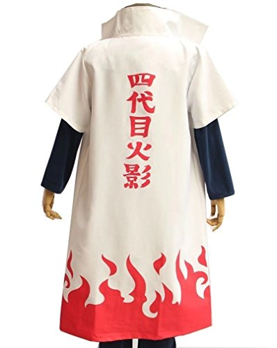 fantasycart HOT Anime Naruto Fourth Hokage Namikaze Minato Cosplay Costumes Cloak ()