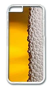 MOKSHOP Adorable beer foam Hard Case Protective Shell Cell Phone Cover For Apple Iphone 6 Plus (5.5 Inch) - PC Transparent