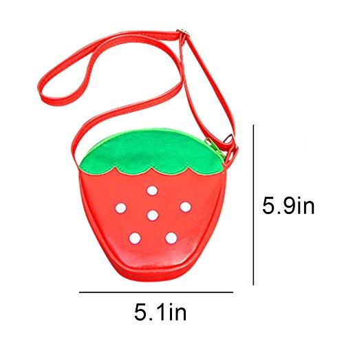 Unisex Cartoon Mini Bag Fragola KINGSEVEN Bambini Coin Borsa Borsa Borsa Crossbody Fragola Anguria Adorabile tracolla Frutta Portafoglio a Pinepple I445Tq8w