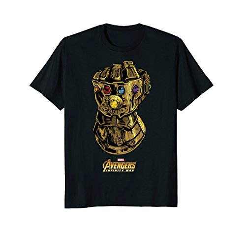 Marvel Avengers Infinity War Gauntlet Gems Graphic T-Shirt Mens Gauntlet