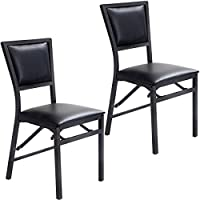 Giantex Set of 2 Metal Folding Chair Dining Chairs Home Restaurant Furniture Portable (18 X 20 X 33.5)
