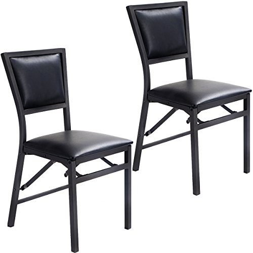 Giantex Set of 2 Metal Folding Chair Dining Chairs Home Restaurant Furniture Portable (18