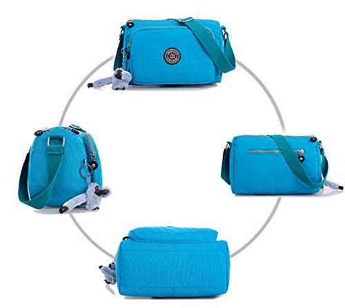 Keshi Nylon neuer Stil Damen Handtaschen, Hobo-Bags, Schultertaschen, Beutel, Beuteltaschen, Trend-Bags, Velours, Veloursleder, Wildleder, Tasche Schwarz