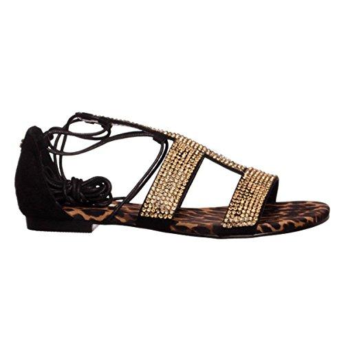 Guess Flfay2esu03 - Sandalias de Vestir de Material Sintético Mujer