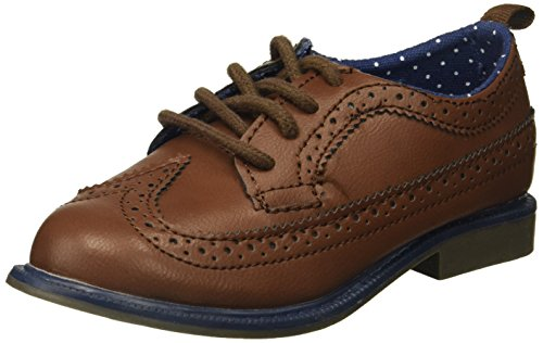 Brown Boys Shoes (carter's Boys' Dress Oxford, Brown, 10 M US Toddler)
