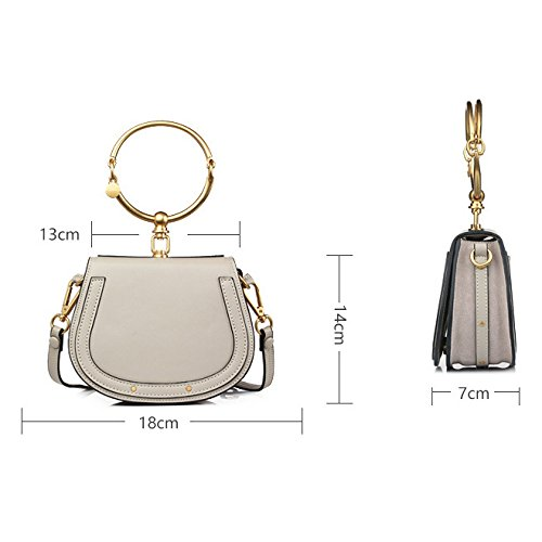 Métal Main Mode Bandoulière Grey En UEJDB Fille Sacs Petite Sac Main Féminine à à Sac Messenger à AYwI1q