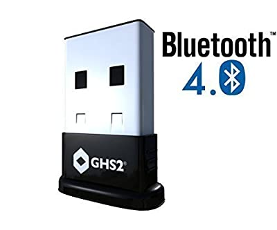GHS2 Bluetooth 4.0 USB Network Adapter Dongle for Windows / Linux / Mac - Plug and Play Dongle Class 2 Transmitter - 32/64 Bit