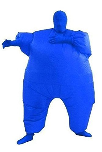 Wecloth Halloween Costume Cosplay FullBody Inflatable Suit Penguin Costume Party Cosplay Adult (Blue)