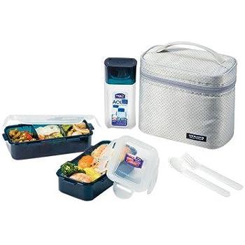 Amazon Com Lock Amp Lock Lunch Box With Insulated Bag Gray