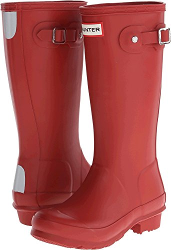 Hunter Boy's Original Kids Military Red Knee-High Rubber Rain Boot - 4M