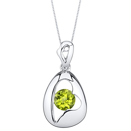 Sterling Silver Minimalist Pendant Necklace available in various colored stones
