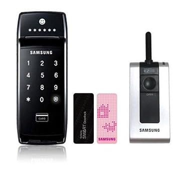 Samsung SDS SHS-2621 cerradura de puerta Digital con memoria Chip + mando a distancia: Amazon.es: Electrónica