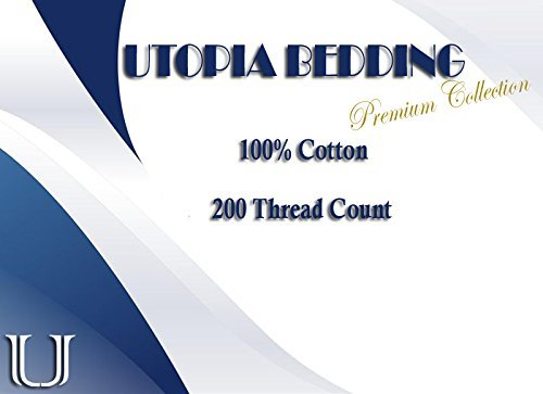 Utopia Bedding Flat Sheet, 100% Cotton for Maximum Softness and Easy Care, Elegant Double-Stitched Tailoring (6-Pack, Full, White)