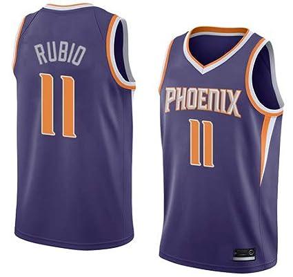 K&A Camiseta Ricky Rubio Phoenix Suns Morado para Hombre & Niño, Camiseta Ricky Rubio Phoenix Suns Icon Edición Swingman para Hombre & Niño