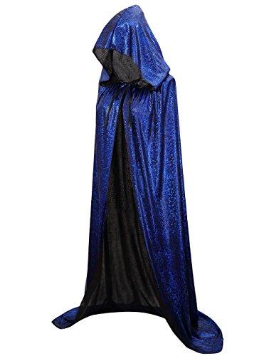 Hood Apparel - Hamour Unisex Halloween Cape Full Length Hooded Cloak Adult Costume (59