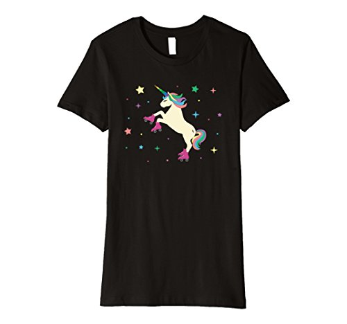 Roller Derby Costumes (Womens So Fancy They See Me Rollin Magical Unicorn Funny T-Shirt XL Black)