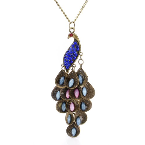 898f999d1d9d8d Leegoal Retro Peacock Crystal Necklace Pendant Jewelry Vintage Style - Buy  Online in Oman. | Jewelry Products in Oman - See Prices, Reviews and Free  ...