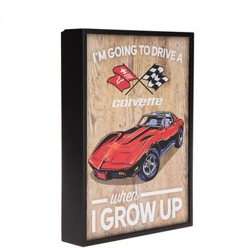 Surprising Going To Drive A Corvette Wood Wall Decor Wall Decoration For Kids Room Download Free Architecture Designs Scobabritishbridgeorg