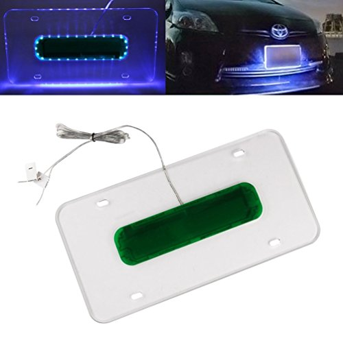 Universal Car LED Light Acrylic License Plate Frame Holder MINGLI ...