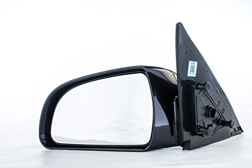 View Left Mirror Side (Driver Side Mirror for Hyundai Sonata (2006 2007 2008 2009 2010) Left Outside Rear View Unpainted Power Adjusting Heated Non-Folding Replacement Door Mirror)