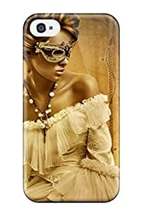 Durable Case For The Iphone 4/4s- Eco-friendly Retail Packaging(woman Mystery Masquerade)