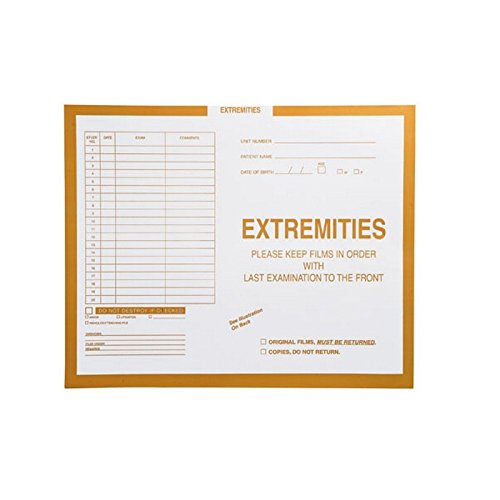 Extremities, Yellow #109 - Category Insert Jackets, System I, Open End - 14-1/4'' x 17-1/2'' (Carton of 250)