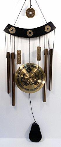 Large Feng Shui Windchime Gong with Dragons & Yin Yang