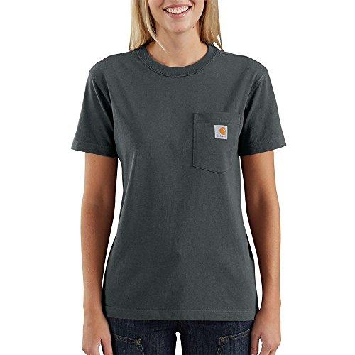 (Carhartt Women's WK87 Workwear Pocket Short Sleeve T Shirt, elm, Small)