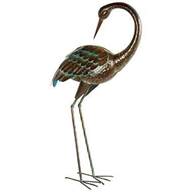 Regal Art and Gift LG Crane Preening Standing Art
