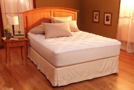 (Restful Nights Egyptian Cotton Mattress Pad Twin 38x75in 8oz)