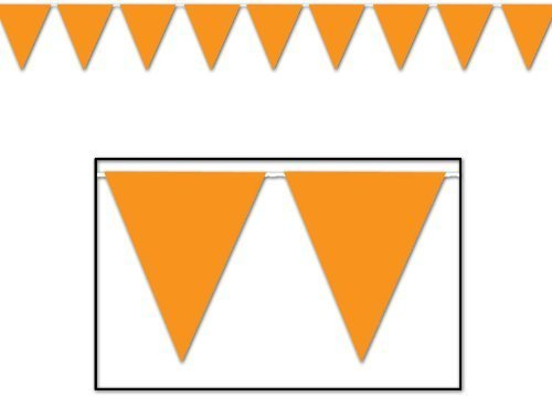 Fun Express - 100 Ft Orange Pennant Banner Flags Party Event