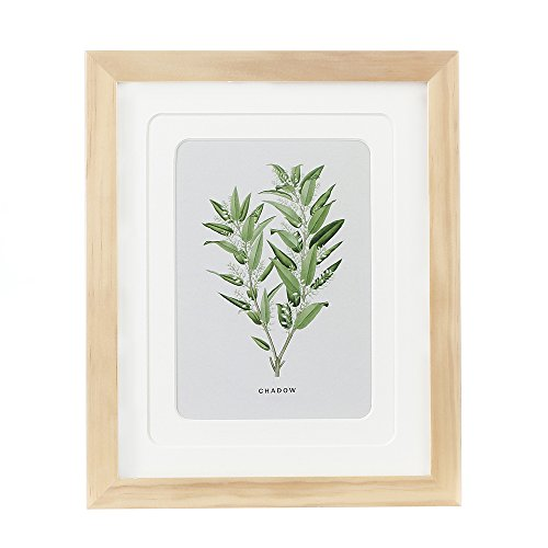 Englant 8x10 Picture Frame Wood Photo Frame for Pictures 5x7 with Mat or 8x10 without Mat Natural Color