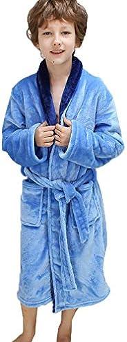 Happy Sky Children Robes Flannel Bath Wa=Ear Sleep Clothing for 4-16 Years Old Boys Girls Bathrobes