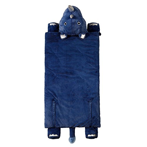 Kid's Animal Character Slumber Sleeping Bag (Blue - Sleeping Bed Bag Animal