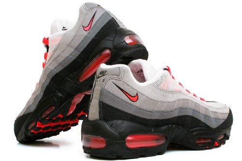 medium Solar Shoes Men s Air neutral '95 NIKE Max Red White Grey Grey Running Multicolour 106 Trail 6RAnSvwwF