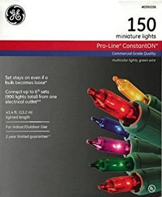 GE 150ct ConstantOn Multicolor Miniature Christmas Lights with 43 4' Total Set Length