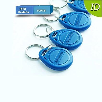 50pcs 125 KHz Tag RFID llavero proximidad ID tarjeta Keyfobs ...