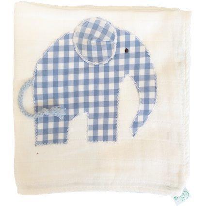 Mullwindel Spucktuch Elefant (blau) Manufaktur Hannover