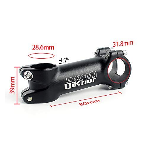 Glaray Bike Stem 31.8mm Aluminum Alloy 7 Degree Bicycle Handlebar Stem Riser for MTB Mountain Bike